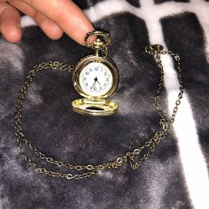 Beautiful Golden Heart Shaped Locket Watch